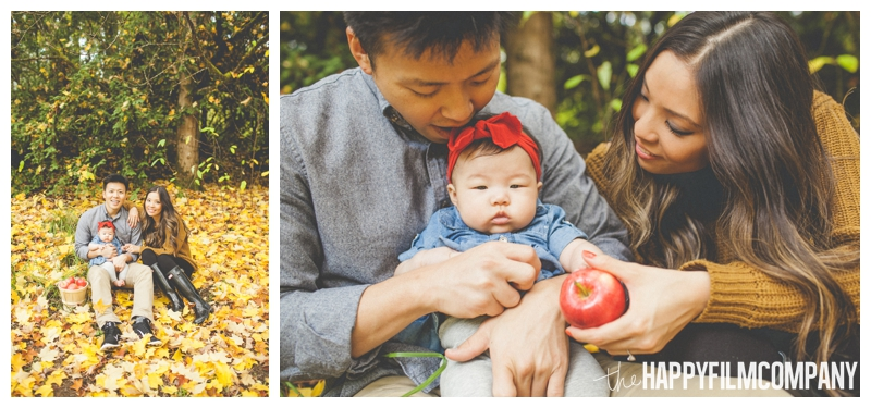 autumn photo shoot apple basket   - Seattle Family Holiday Portraits - the Happy Film Company