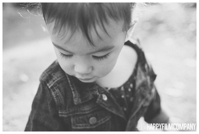 black and white portrait little girl portrait  - the Happy Film Company - Seattle Family Photography - Arboretum
