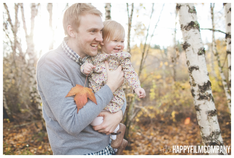 father daughter portrait in forest  - the Happy Film Company - Seattle Family Photography