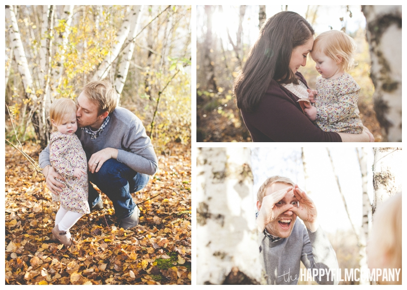 autumn family portraits with orange leaves  - the Happy Film Company - Seattle Family Photography