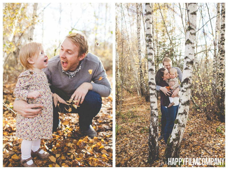 family portraits in birch tree forest  - the Happy Film Company - Seattle Family Photography