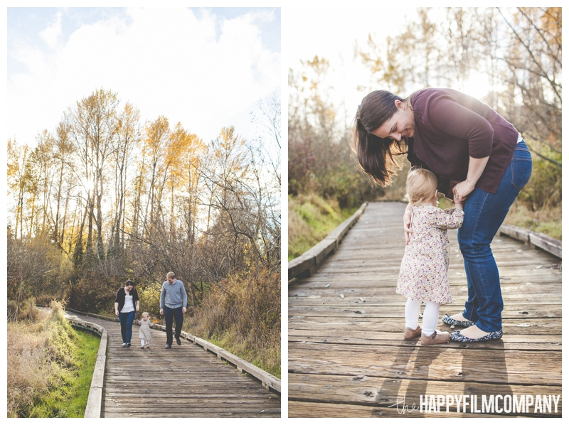 family portrait on boardwalk  - the Happy Film Company - Seattle Family Photography