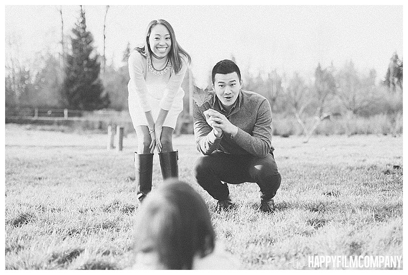 - the Happy Film Company - Winter Family Portraits Seattle -- black and white family portraits parents calling kid