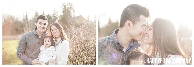 smiling in blueberry farm photos  - the Happy Film Company - Winter Family Portraits Seattle