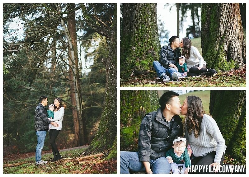 family in trees  - the Happy Film Company - Winter Seattle Family Portraits