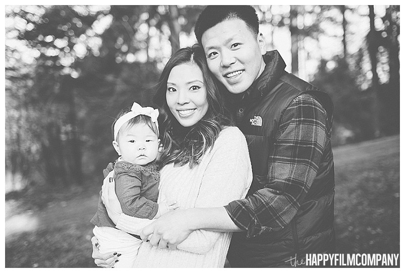 black and white family portrait asian family with baby - the Happy Film Company - Winter Seattle Family Portraits