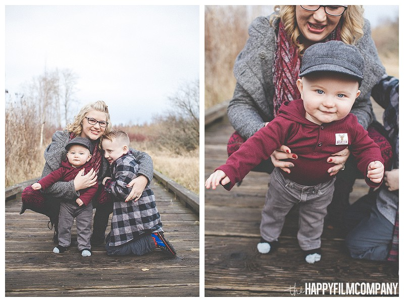 mom with boys sons portrait  - Playful Seattle Family Photos - the Happy Film Company