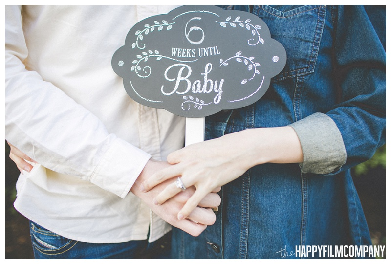 baby announcement signs chalkboard  - the Happy Film Company - Seattle Maternity Photography