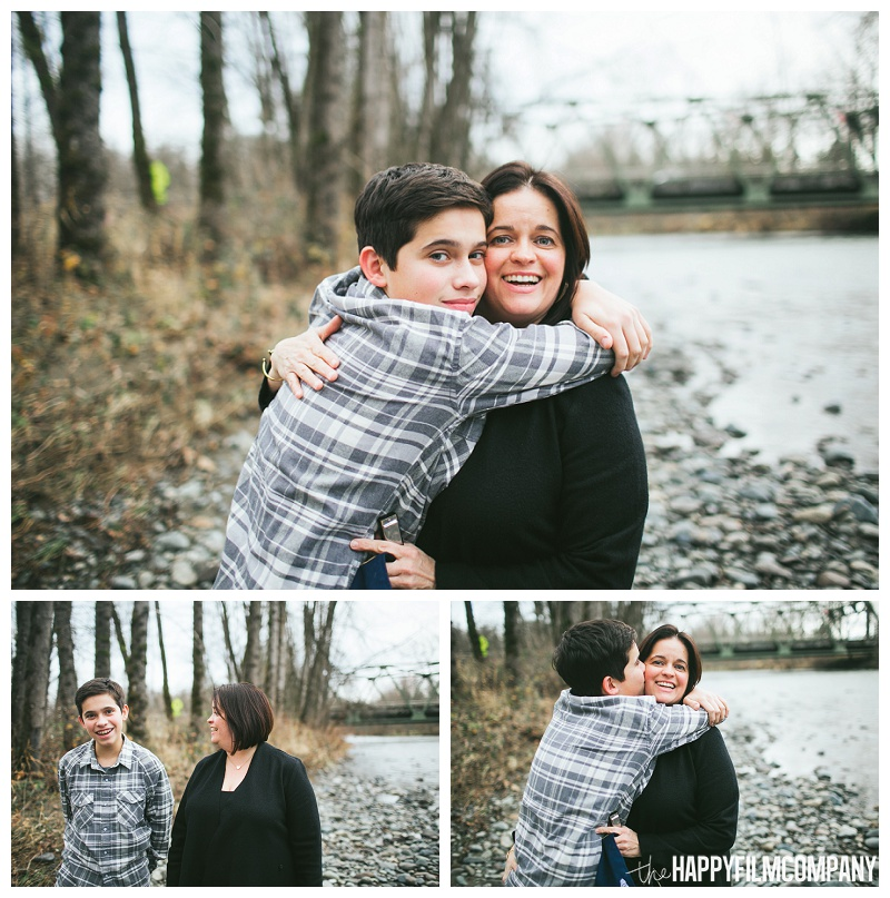mother son portraits by river  - the Happy Film Company - Seattle Family Photos