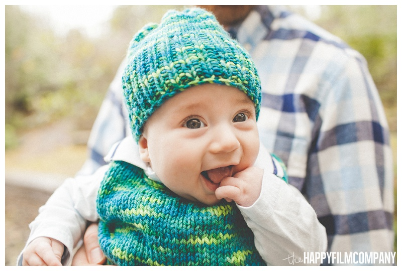 cute happy baby turquoise smile photos  - the Happy Film Company - Seattle PEPS Group Family Portraits