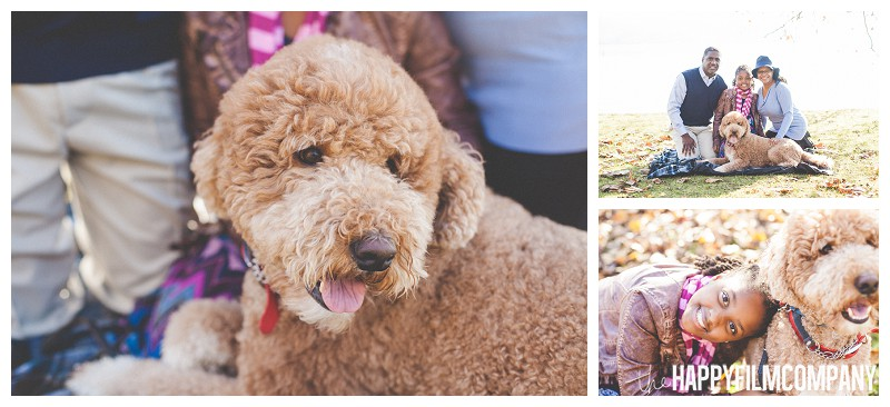 Fall dog family photo- the Happy Film Company - Why It's a Good Idea to Include Dog in Your Family Portraits