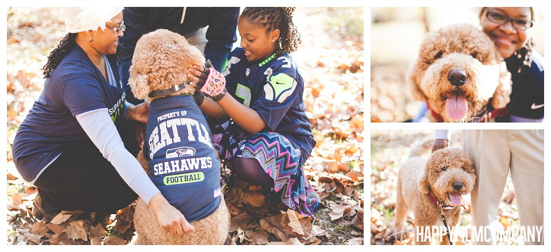 Seattle fall family photo pet photo- the Happy Film Company - Why It's a Good Idea to Include Dog in Your Family Portraits
