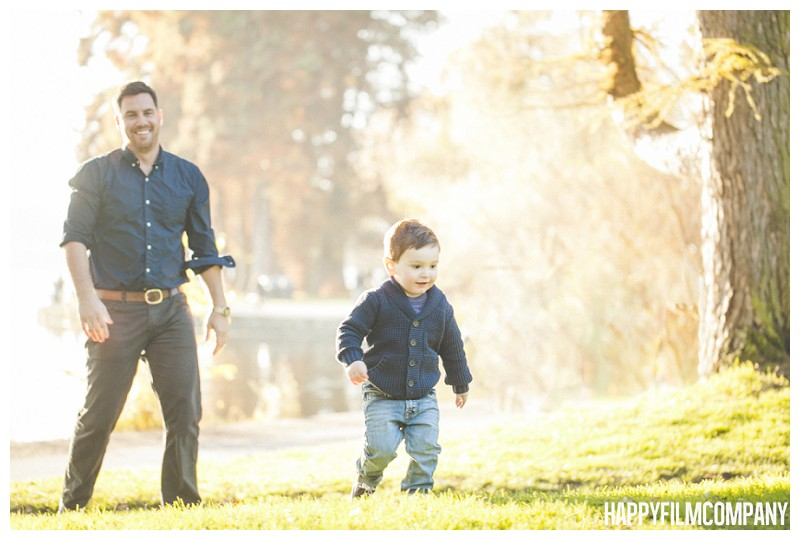 Father and Son Portrait at the Goldern Hour- the Happy Film Company - Should I book my Seattle family photo shoot at Golden Hour?