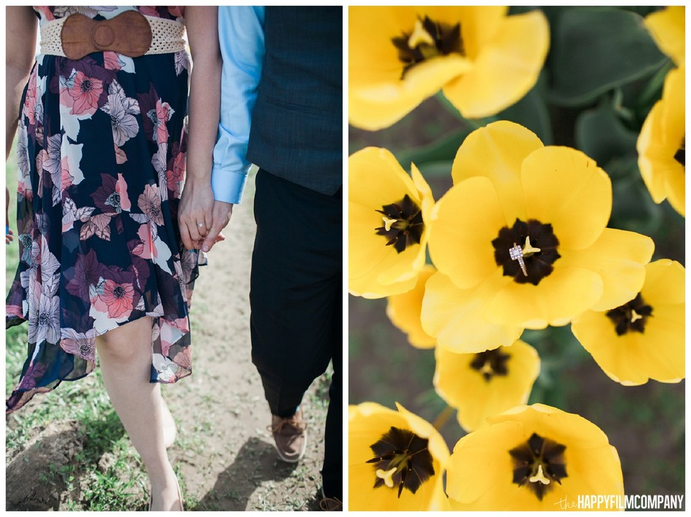 Engagement idea, tulip fields engagement - the Happy Film Company - Seattle Family Photography