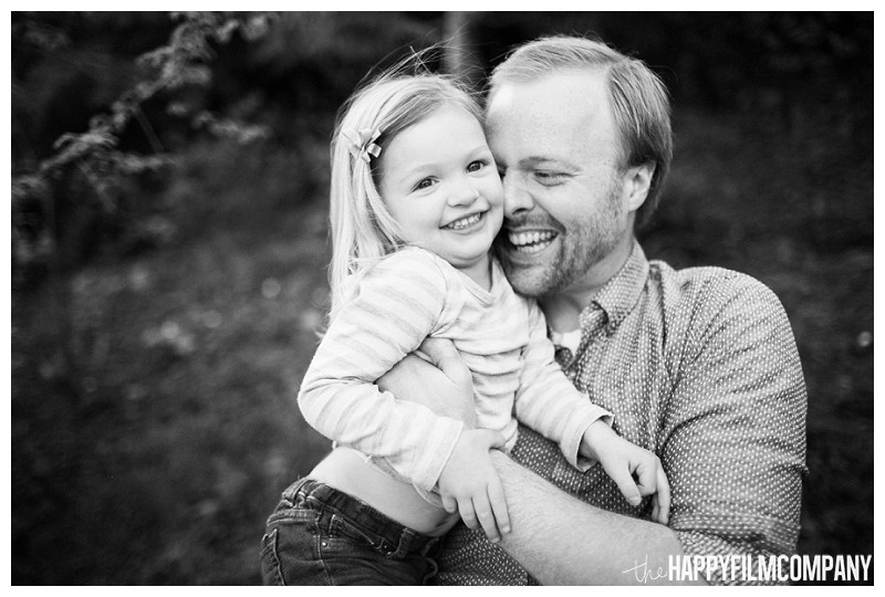 Father and daughter bonding - the Happy Film Company - Seattle Family Photography