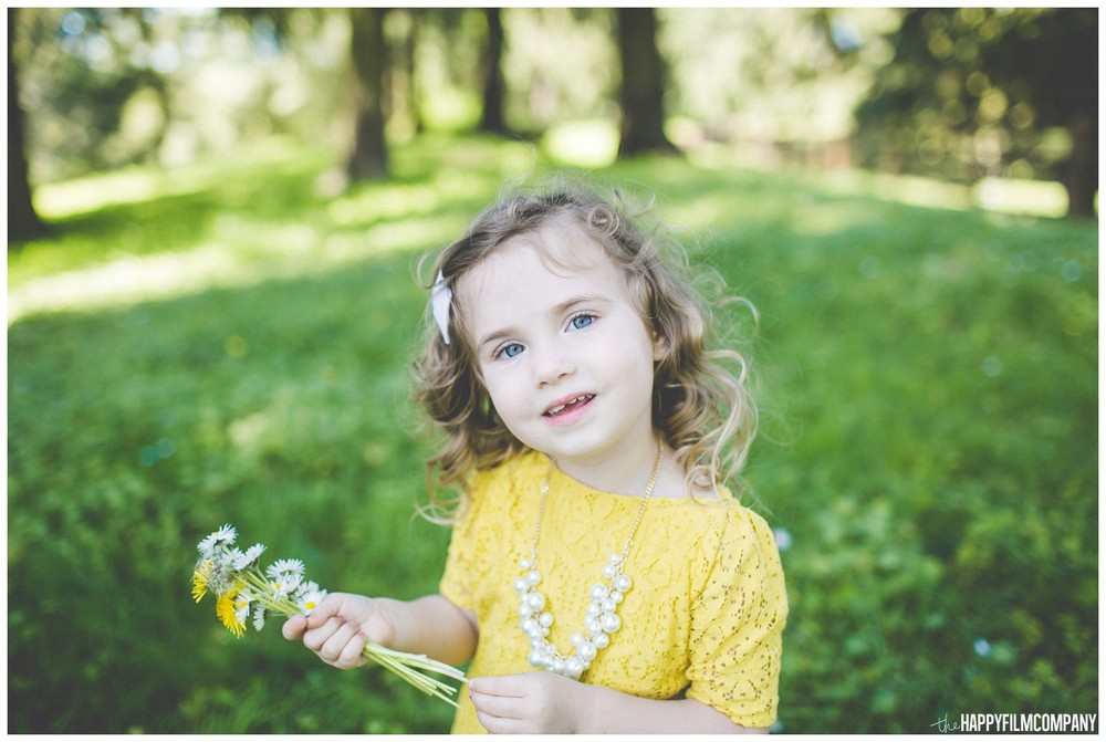 Little girl enjoyed the spring- the Happy Film Company - Seattle Family Photography