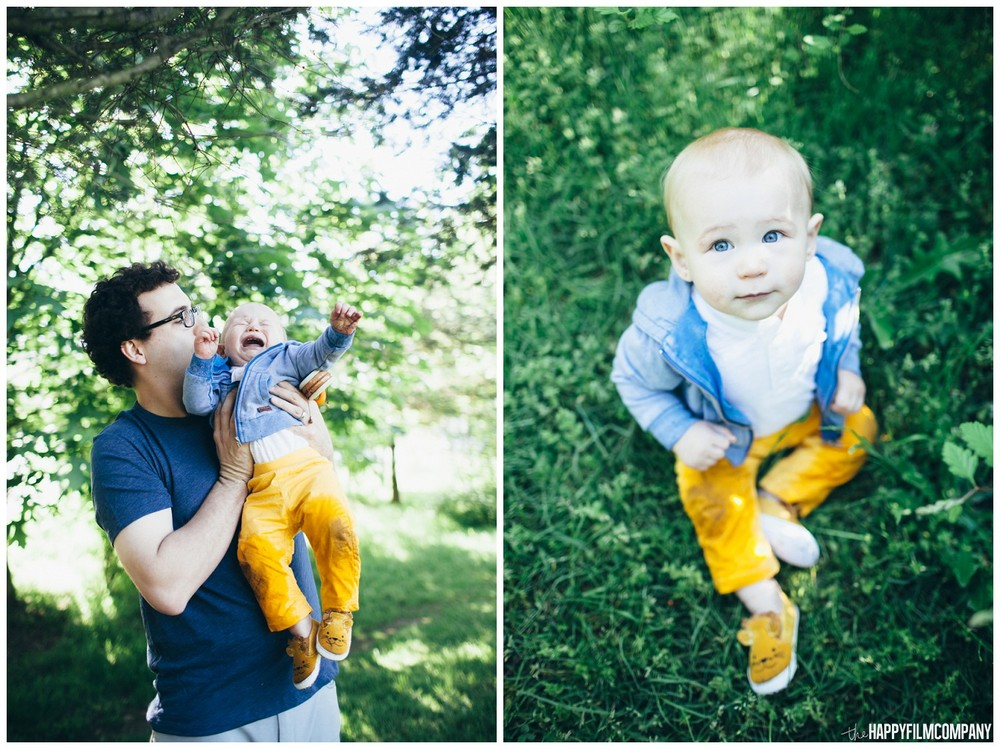 Dad and baby photo - the Happy Film Company - Seattle Family Photos