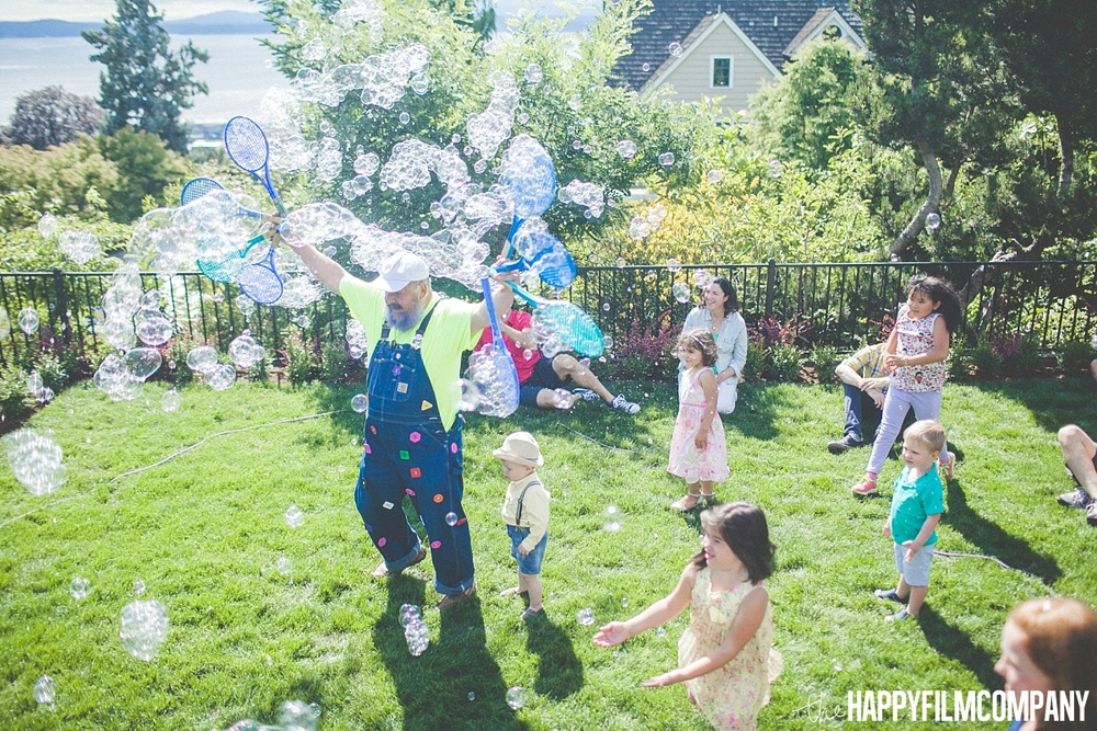 Birthday Party with the Bubbleman - the Happy Film Company- Seattle Family Photos