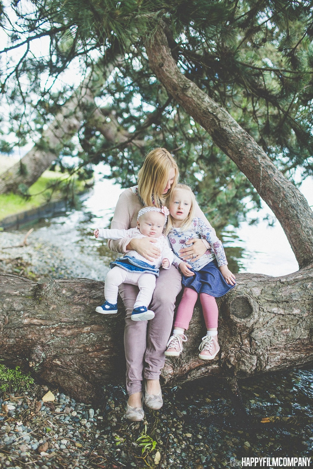 Mother and her little girls - the Happy Film Company - Seattle Family Photos