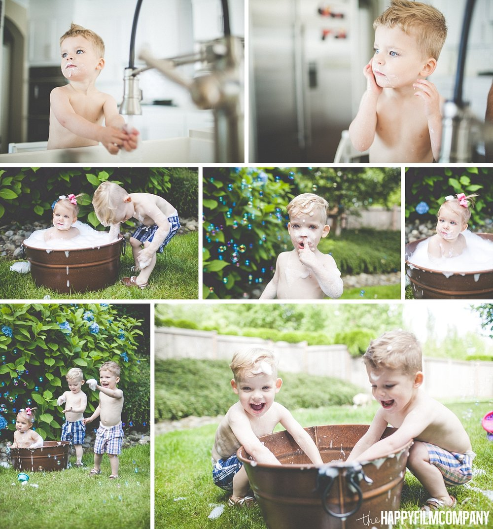 Bubble bath - the Happy Film Company - Seattle Family Photos