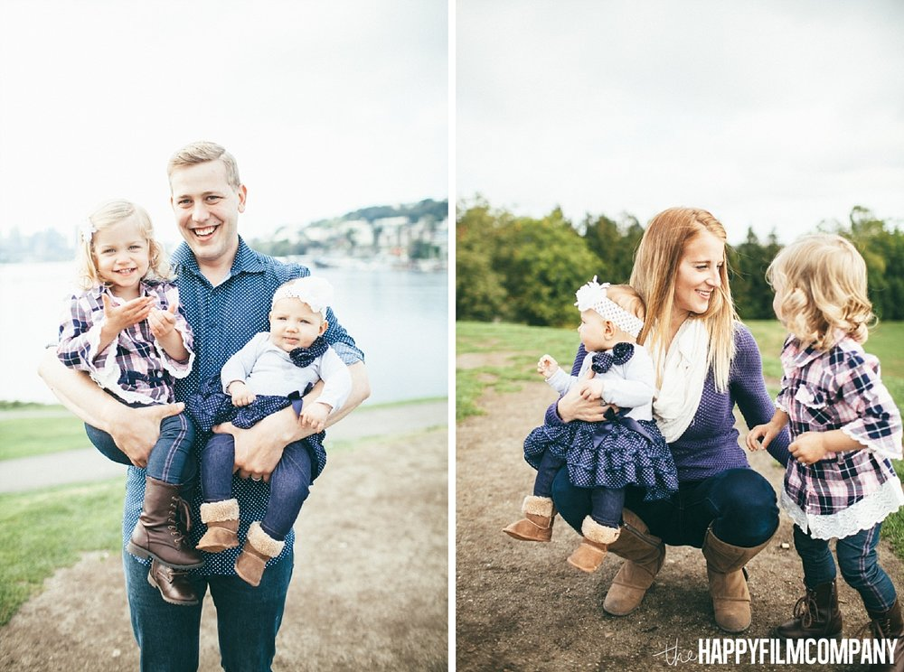 Mom and dad with their little girls - the Happy Film Company - Seattle Family Photos