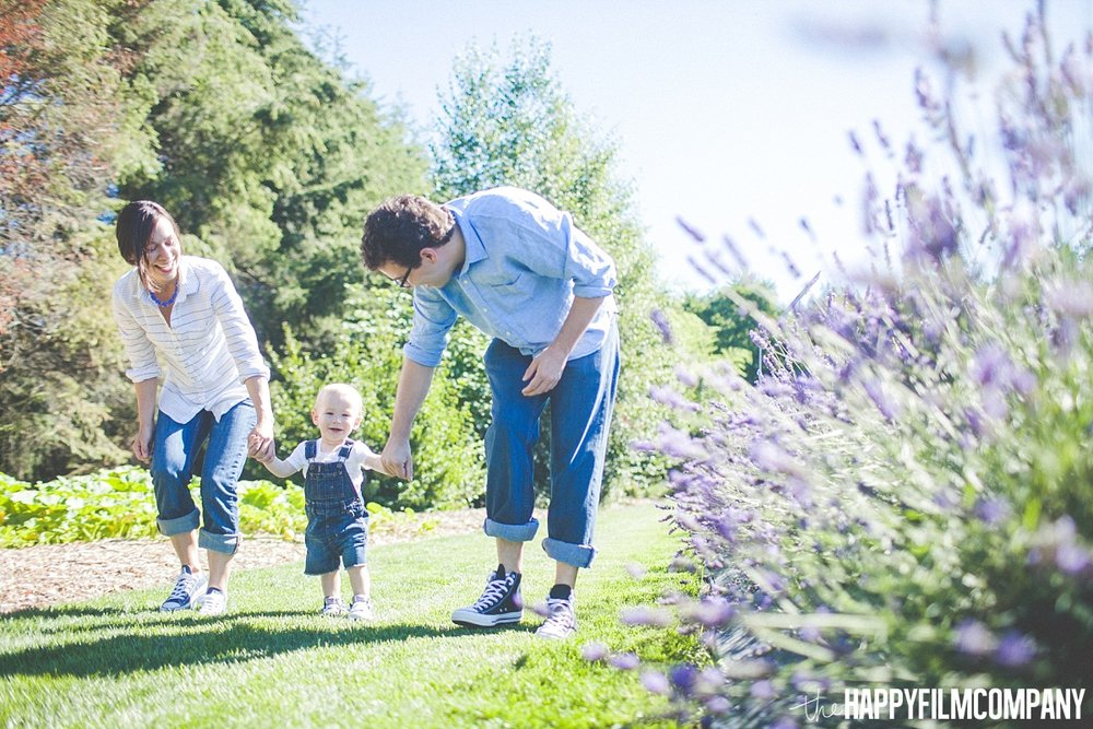 Family walking at the lavender field - the Happy Film Company - Seattle Family Photos