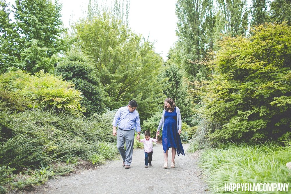 Family waling in the garden - the Happy Film Company- Seattle Family Photos