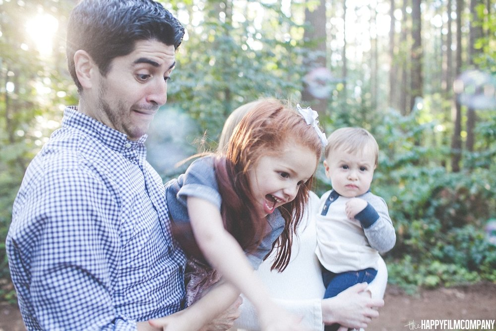 Playing with Dinosaur Bubbles - the Happy Film Company  - Seattle Family Photos