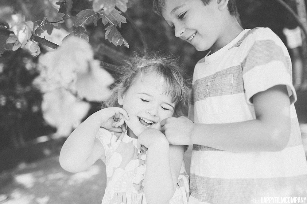 Black and white kids photo -  the Happy Film Company - Seattle Family Photos