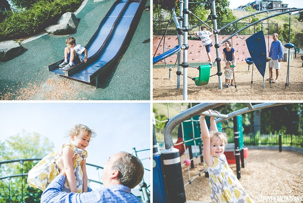 Playground photos -  the Happy Film Company - Seattle Family Photos
