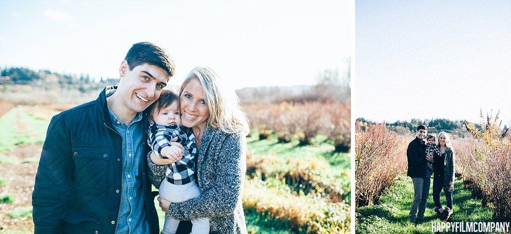 Winter Blueberry farm family photo shoot - the Happy Film Company - Seattle Family Photos