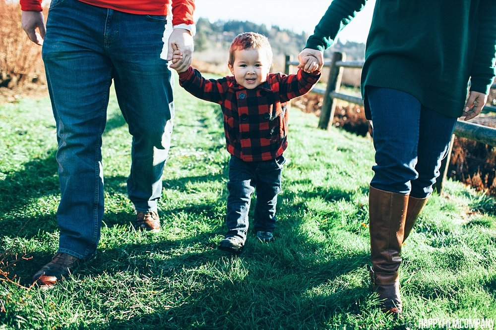 Morning walk at the blueberry farm - - the Happy Film Company - Seattle family Photos