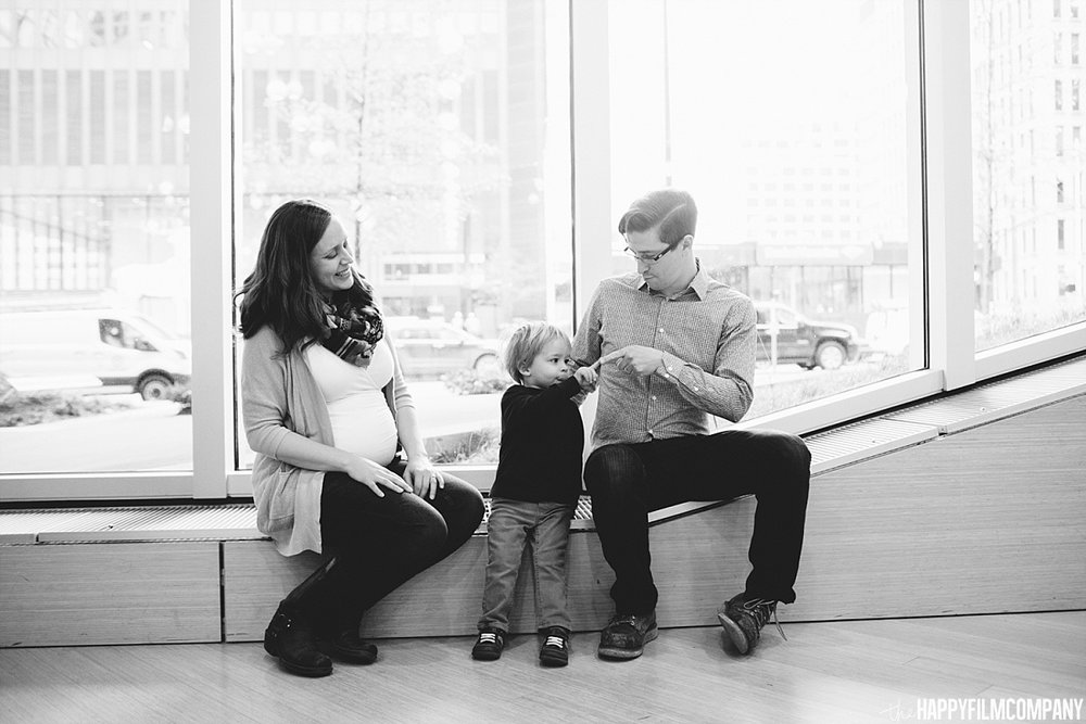 Black and white family portrait - - the Happy Film Company - Seattle Fanily Photos