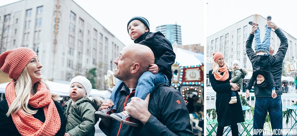 Downtown Seattle Christmas Photos - the Happy Film Company- Seattle Family Photos