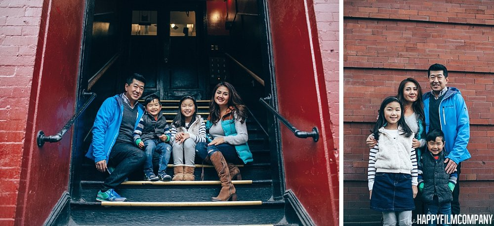 Family sitting at the staircase - - the Happy Film Company - Seattle Family Photos