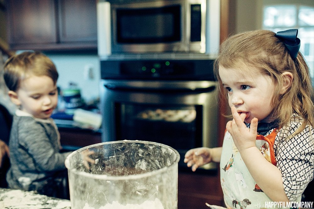 Kinds baking cookies -  the Happy Film Company- Seattle Family Photos