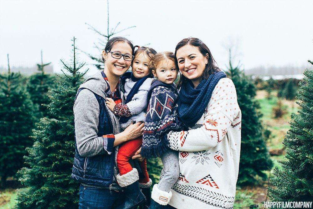 Christmas Tree Farm Family Photo shoot -the Happy Film Company - Seattle Family Photos