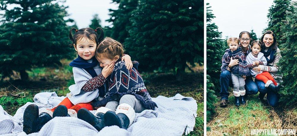 Winter picnic at the Christmas tree farm - the Happy Film Company - Seattle Family Photos
