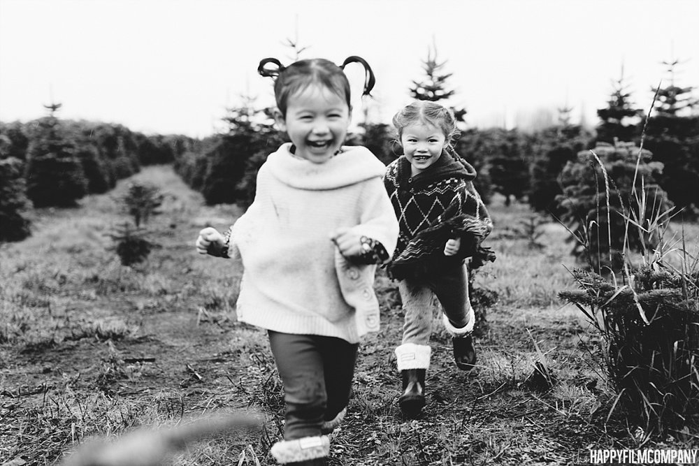 Black and white kids portrait - the Happy Film Company - Seattle Family Photos