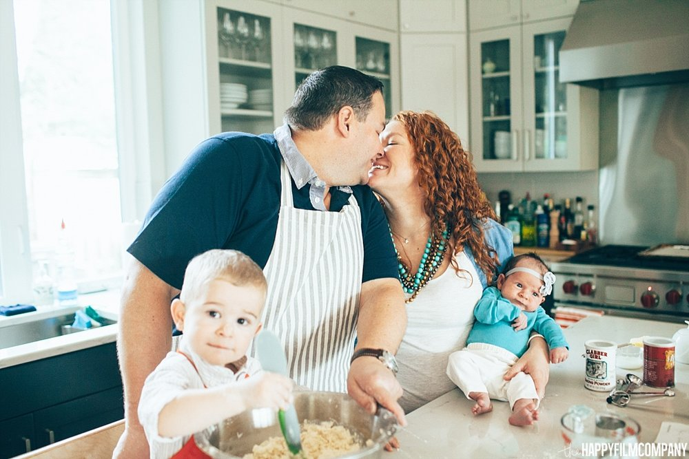 Baking Family Photo Shoot -  the Happy Film Company - Seattle Family Photos