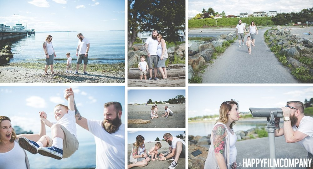Maternity shoot at Sunset Beach in Edmonds - the Happy Film Company- Seattle Family Photos