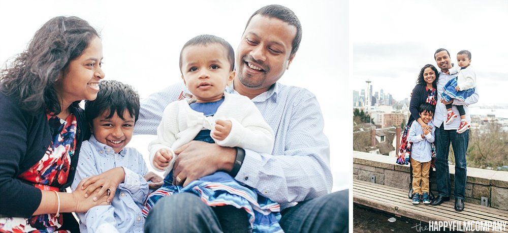 Seattle Family Mini Session at Kerry Park - the Happy Film Company - Seattle Family Photos