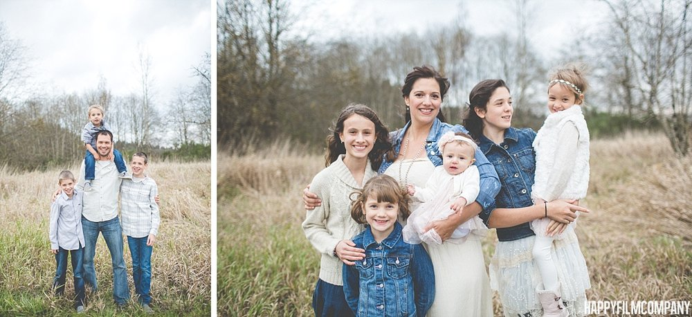 seattle family photography for large families with lots of kids and