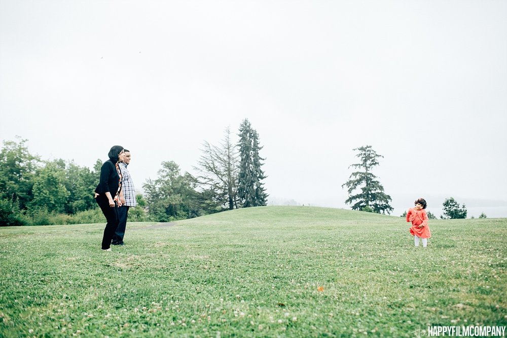 Mother and daughter playing in the green - the Happy Film Company - Seattle Family Photos