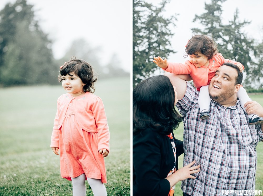 Little girl wearing orange dress - the Happy Film Company - Seattle Family Photos