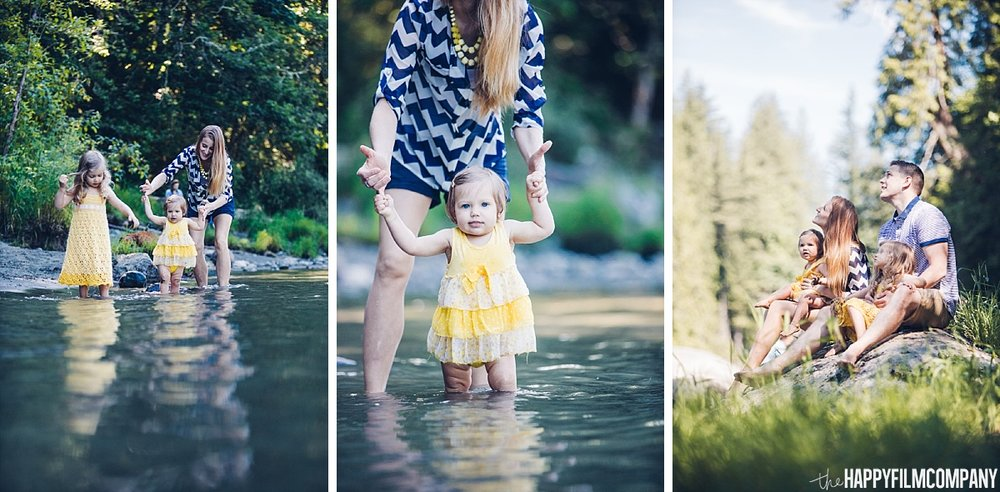 Splashing and playing in the water - the Happy Film Company - Seattle Family Photos