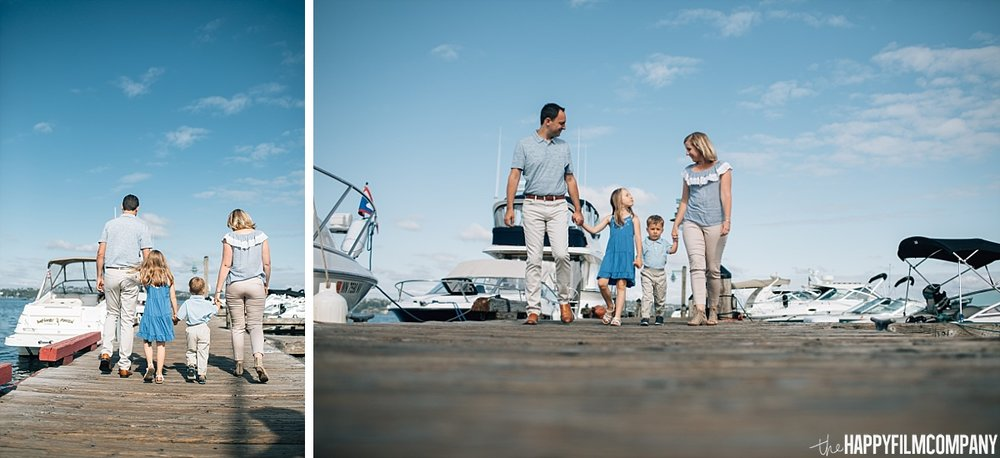 Walking onto the boat dock - the Happy Film Company - Seattle Family Photos