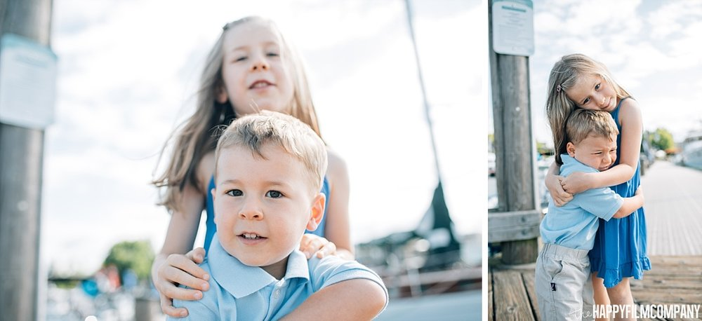 Little boy and Little girl portrait - Siblings- the Happy Film Company - Seattle Family Photos