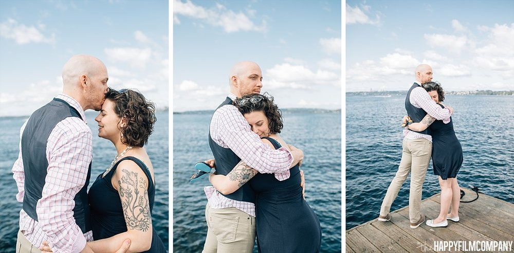 Happy Couple - By the boat dock - the Happy Film Company - Seattle Family Photos