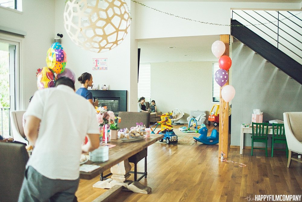 Birthday Party home decoration - the Happy Film Company - Seattle Family Photos